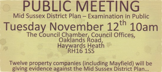 MSDC District Plan -- Examination in Public