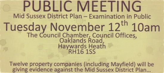 MSDC District Plan -- Examination in Public