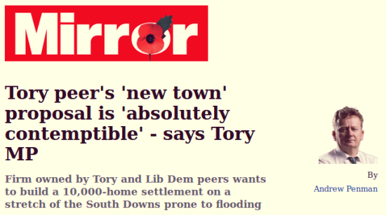 Mayfield in the Mirror Tory peer's new town proposal is absolutely contemptible