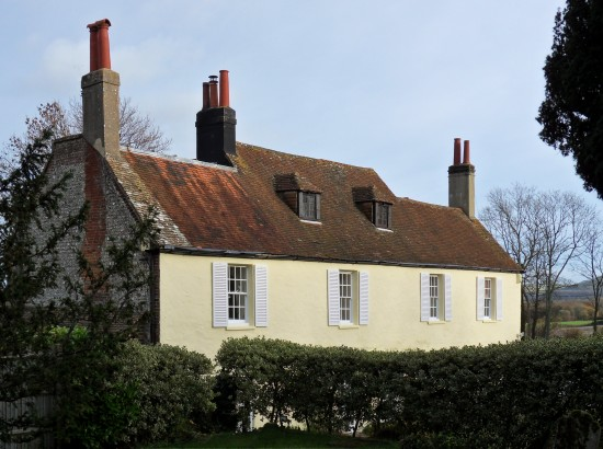 Edburton House as viewed from St. Andrew's churchyard in 2013