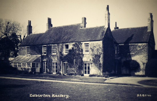 A postcard showing Edburton Rectory as it was in the early 1900s.