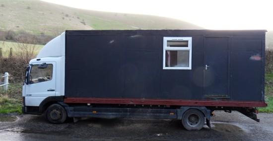 Residential lorry near Shepherd & Dog in Fulking