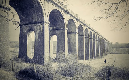 Balcombe Viaduct in a 1954 photograph