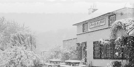Jack and Jill Inn in winter