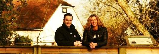 Sally Gunnell and Sam Buckland at Woods Mill
