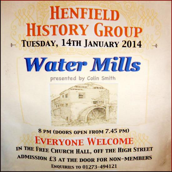 Colin Smith on Water Mills, Henfield History Group