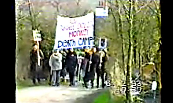 Protest march at Shamrock Farms