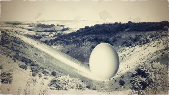 Egg in Devil's Dyke c1907