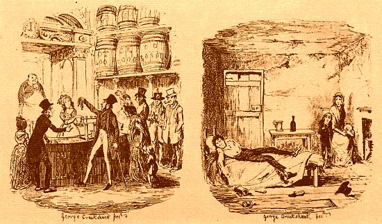George Cruikshank The Gin Palace