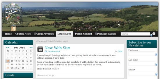 The new WordPress Poynings website