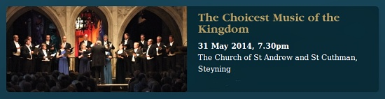 The Sixteen perform in Steyning