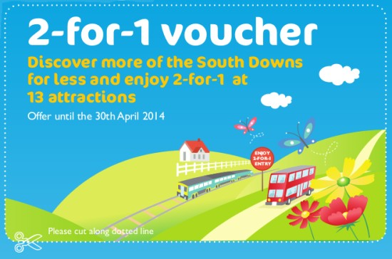 South Downs 2 for 1 voucher
