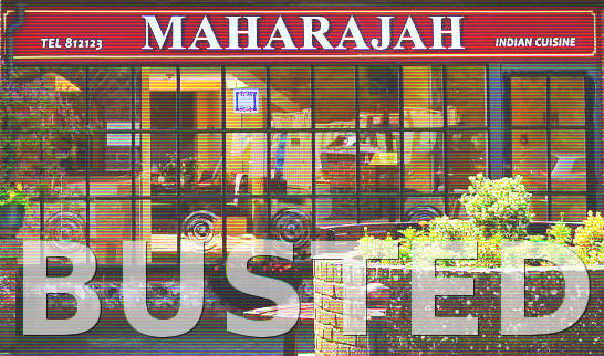 The Maharajah restaurant in Bramber