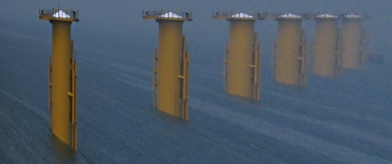 Ocean wind turbine stumps