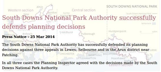 SDNPA wins three planning appeals