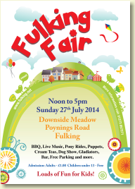 Advert for Fulking Fair 2014