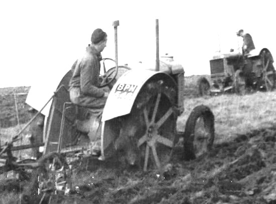 Ploughing the Downs in 1940