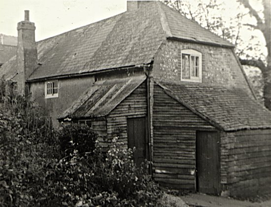 The back of the original cottage in the early 1950s