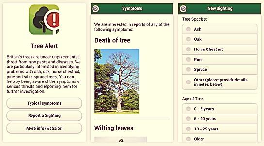 Tree alert app