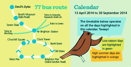 The 77 bus summer service