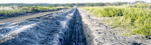 A cable trench