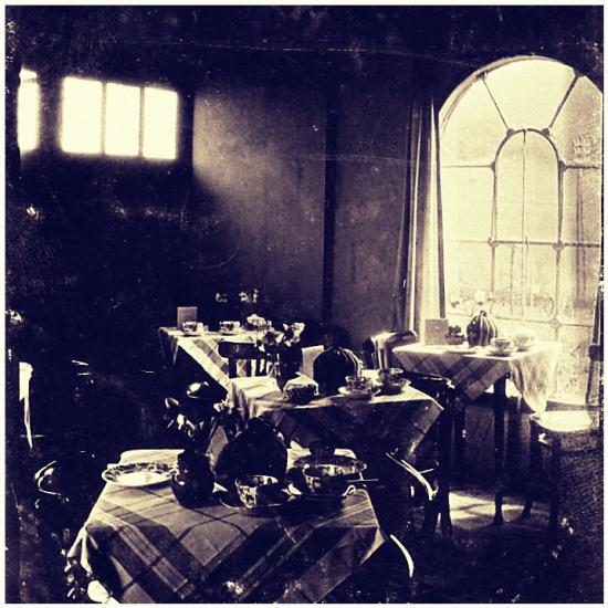 The interior of the Dainty Tearoom in the 1930s