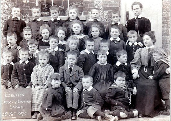 Edburton School teachers and pupils in 1899