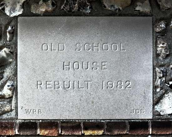 Old School House Edburton rebuilt in 1982