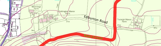 Trench traffic Edburton Road
