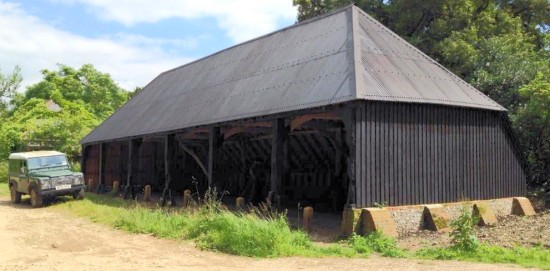 The restored cart shed at Up Marden
