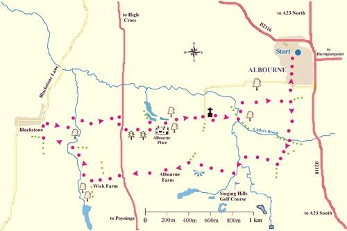 Albourne map