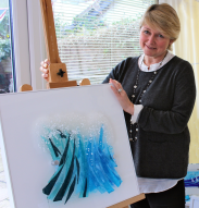 Pauline Findlay in her studio