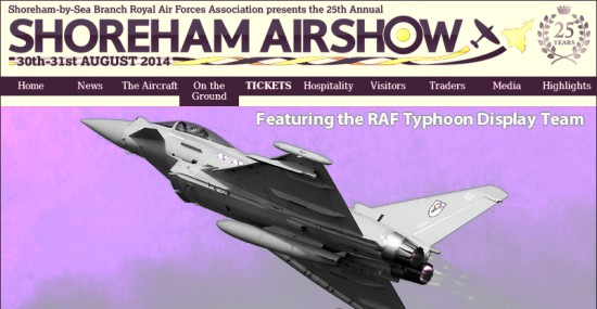 Shoreham Airshow 2014 traffic
