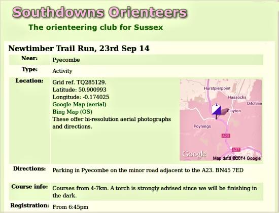 Newtimber trail run