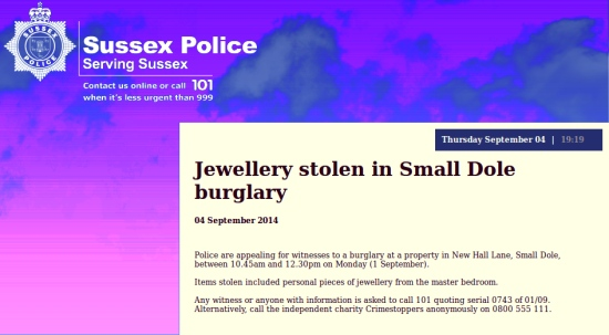 Small Dole burglary