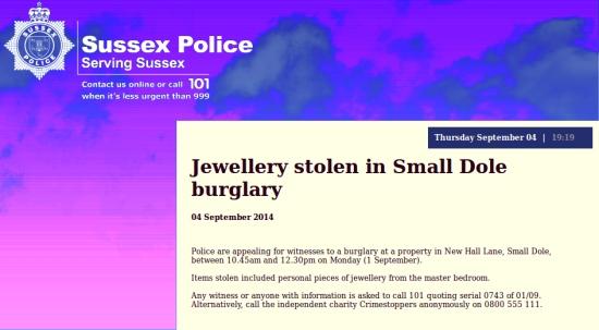 Small Dole burglary