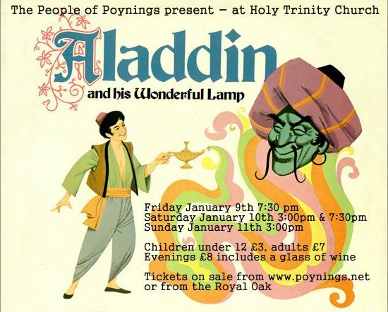 Aladdin and his Wonderful Lamp Poynings pantomime