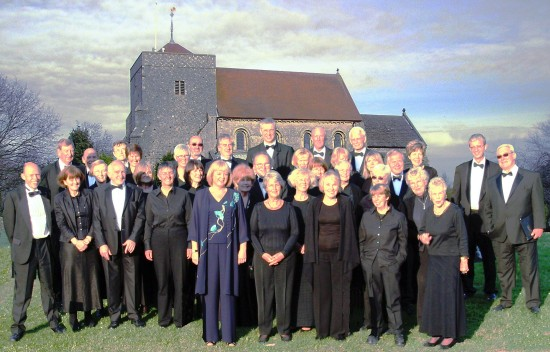 Chanctonbury Chorus in front of St. Andrew's Steyning