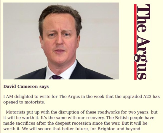 David Cameron speaks (but why?)