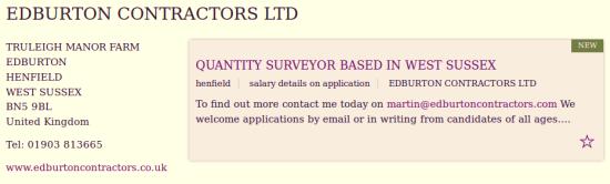 Edburton Contractors Ltd.