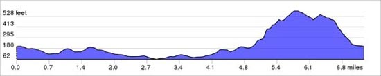 Elevation chart of MTB route - Fulking-Nettledown-Truleigh Hill loop