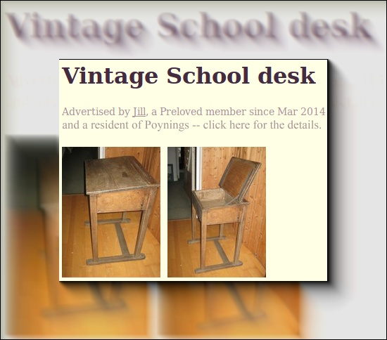 Vintage desk for sale in Poynings