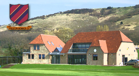 Preston Nomads Clubhouse - Downs in background