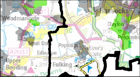 Broadband map for Fulking area