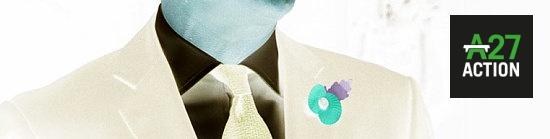David Cameron neck tie poppy