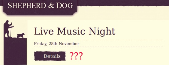 Live music night details