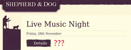 Live music night details