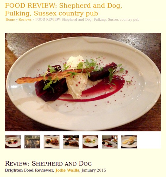 A rave review of the Shepherd & Dog in Fulking