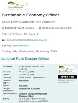 Job Ads for SDNP