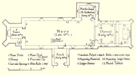 St. Andrew' s Edburton Church plan